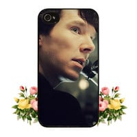 BBC Sherlock iPhone 4 Case iPhone 4s Case iPhone 5 Case iPhone 5s Case Benedict Cumberbatch iPhone 4 4s 5 Case Cute iPod 5 Touch Silicone