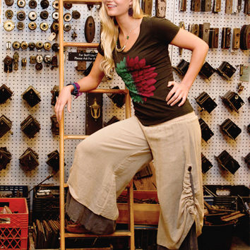Ruched Fair Trade Pants: Soul Flower Clothing