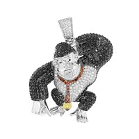 Video Game Ape Pendant Red Black White Stainless Steel Unique New
