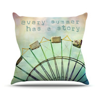 """Sylvia Cook """"Every Summer Has a Story"""" Throw Pillow"""