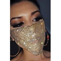 Sweet Sequined Gold Face Mask