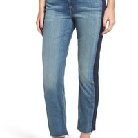 Jen7 Shadow Seam Straight Crop Jeans (Authentic Light Brooklyn) | Nordstrom