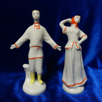 VINTAGE Porcelain Figurine Soviet  ukrainian pair russian antique russian 1970 ussr