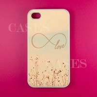 Love Forever Iphone 4 Case, Infinity Iphone 4s Cases - Unique Girly Lovely Pr...