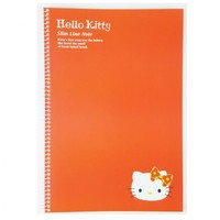 Hello Kitty Slim Line College Ruled Spiral Notebook : Red $2.99