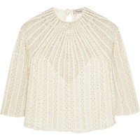 Temperley London - Crivelli embellished embroidered tulle top