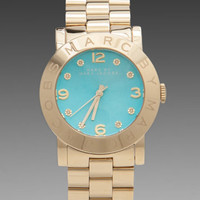 Marc by Marc Jacobs Amy Watch in Gold with Turquoise