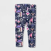 Toddler Girls' Geometric Printed Legging - Cat & Jack™ Navy Blue