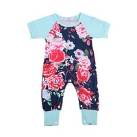 Baby Girl Floral Rompers Summer Girls Clothing Roupas Bebes Newborn Baby Clothes Cute Baby Jumpsuits Infant Girls Clothing