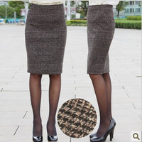 Free shipping 2016 new  plaid sexy OL knee-length  fashion Skirt high quality check Pencil Skirts SMLXXXXL