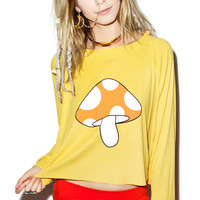 Wildfox Couture Fairyland Monte Crop Sweater Daisies