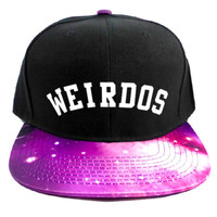 Weirdos Snapback Hat in Black & Purple