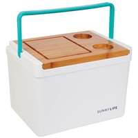Sunnylife Picnic Cooler Box with Cutting Board & Drink Holder Lid | Nordstrom