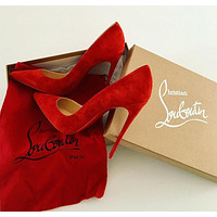 ( S C ) Christian Louboutin 2021 RED New pointed high heels