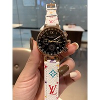 LV Louis Vuitton Newest Fashion Women Men Quartz Movement Wristwatch Watch