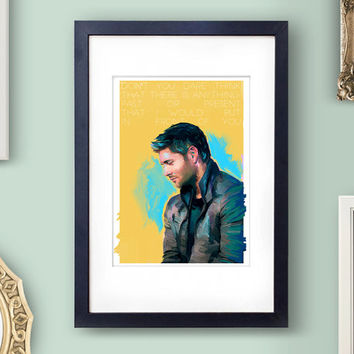 Supernatural Art Dean Winchester Art Supernatural Dean Jensen Ackles Art Painting Supernatural Painting Supernatural Quote Dean Winchester