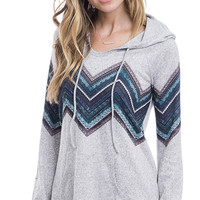Lazy Sunday Striped Pullover Hoodie