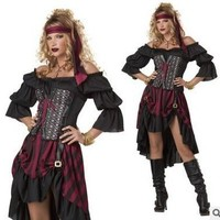 New Arrival Caribbean Female Pirate Halloween Costume Halloween Party Role-playing Pirate Costume Adult Cosplay Clothing