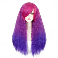 Harajuku Fluffy Wigs with Small Curls,Glamous Long Wigs for Cosplay,Halloween