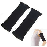 Easyfashion Slimming Ladies Black Weight Loss Arm Shaper Cellulite Fat Buster New Wrap/Belt