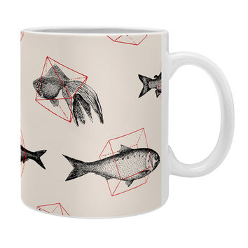 Florent Bodart Fishes In Geometrics Coffee Mug