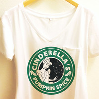 Cinderella Starbucks Coffee Shirt | Pumpkin Spice | Disney