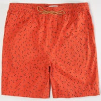 Rvca Shells Mens Volley Shorts Chili  In Sizes