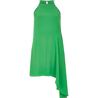 River Island Womens Green asymmetric woven cami dress