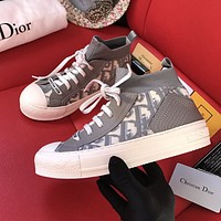 Dior new low-cut presbyopia letter flat lace-up sneakers shoes