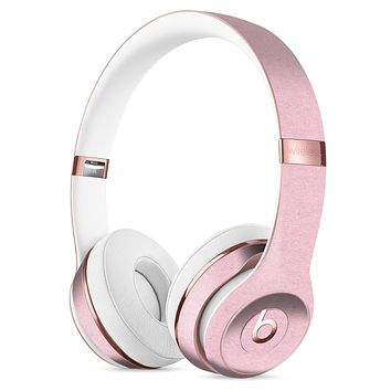 Baby Pink Solid Surface Full-Body Skin Kit for the Beats by Dre Solo 3 Wireless Headphones