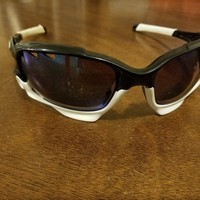 Oakley White/black Jawbone Racing Jacket Sunglasses with light tinted Lens