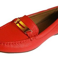 Coach Olympia Pebble Grain Leather Loafer Shoes 7.5
