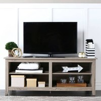 """Wood TV Stand for TVs up to 60"""", Multiple Finishes - Walmart.com"""