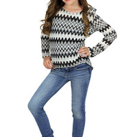 Lori & Jane Zig Zag Sweater | Mod Angel