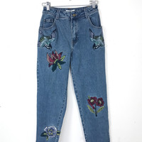 Sparrow Embroidered Cropped Jean