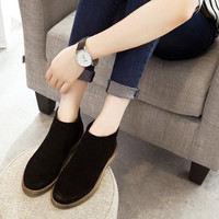 Fashion Cool England Style Solid Color Chelsea Boot