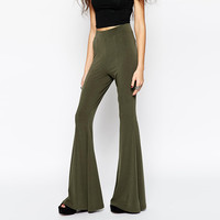 Olive Green Wide Bottom Trousers