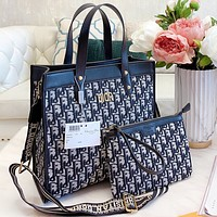 Dior Fashion New More Letter Canvas Shoulder bag Handbag Crossbody Bag Two Piece Suit Bag