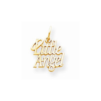 10k Yellow Gold Little Angel With Halo Pendant