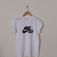 classic white nike air swag sexy style top tshirt fresh boss dope celebrity festival clothing oversized slouchy fashion urban unqiue