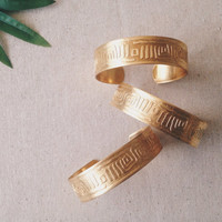 Afro Mud Cuffs // Etched Brass Cuffs, Afrocentric Jewelry, African Jewelry, Tribal Cuffs, Stacking Bracelets, Festival Jewelry, Summer, Boho