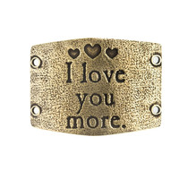 """""""I love you more"""" Lenny and Eva Large Sentiment"""