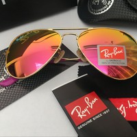 Ray Ban Aviator Sunglass Gold Frame Red Mirrored RB 3025 167/2K