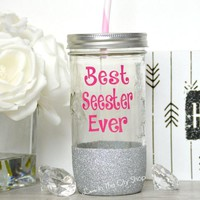 Best Sister / Seester Tumbler (Glass)
