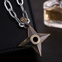 Naruto Sasauke ninja Japan Anime  Necklace/Personality Darts Necklaces stainless steel Chains for Men Action Figure Cosplay Toys AT_81_8