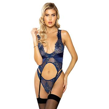 Sexy Intentions Lace and Satin Bustier and Panty