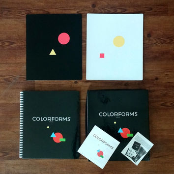 MOMA CLASSIC COLORFORMS Set - Boxed Set Complete - 2 Boards - Book - Stickers - Spiral Book - Manuals - Box - Geometric Learning Toy