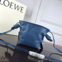 hcxx 1312 LOEWE Mini Independent pocket Cole Flowrs Fashion Shoulder bag  blue