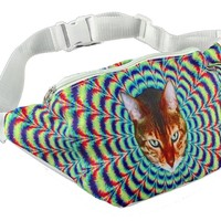 Psychedelic Cat Fanny Pack