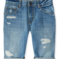 PS from Aero  Kids' Light Wash Destroyed Denim Shorts